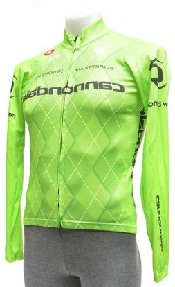 Castelli Cannondale Team Long Sleeve Cycling Jersey Men SMAL