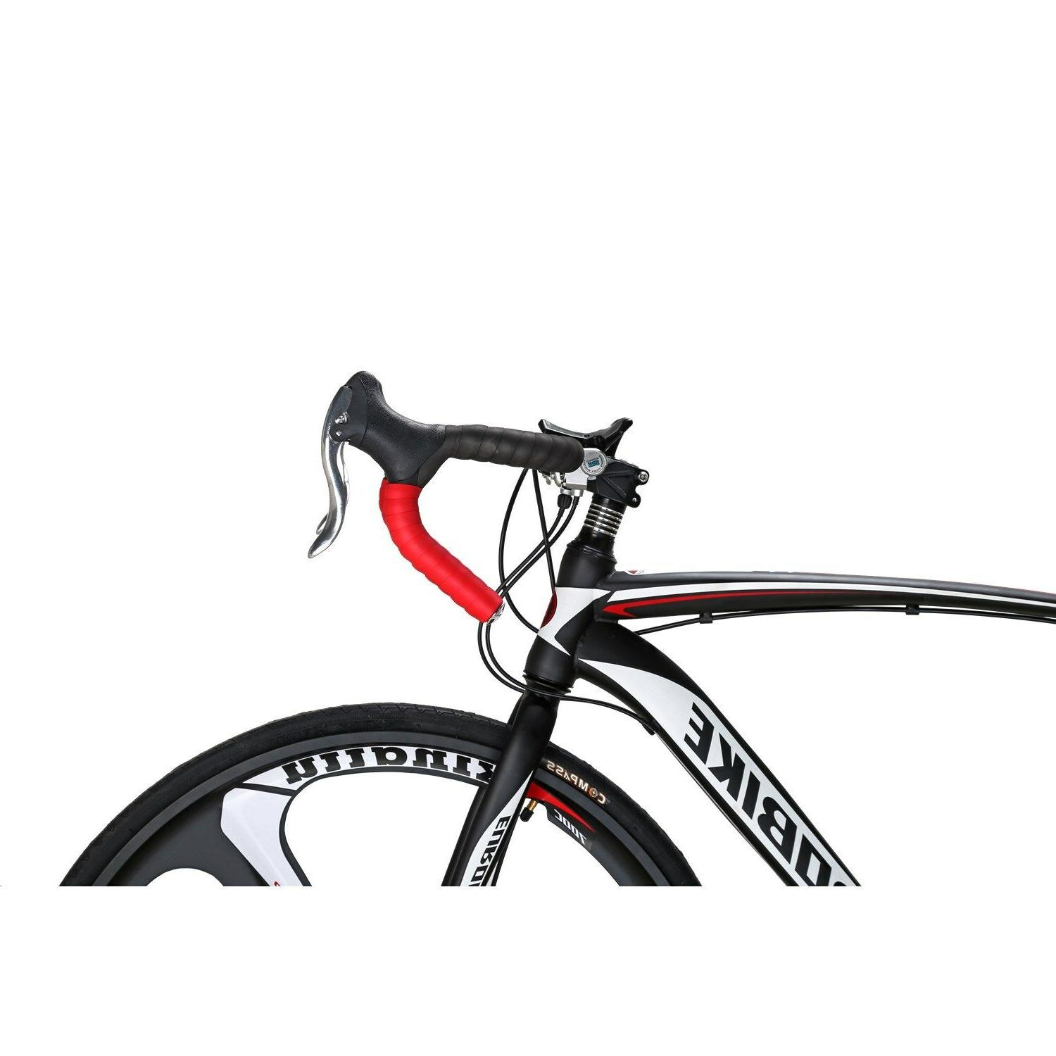 700C Bike Speed Complete Bicycle 54cm Disc Brakes Mens Cycling