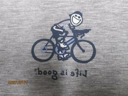 """LIFE IS GOOD Men's Good Move Workout Bicycling """"Road Bike"""" S"""